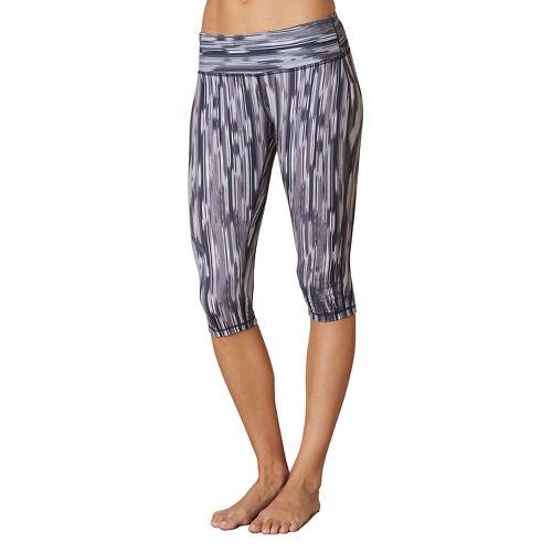 Womens Prana Maison Knicker Capri Pants - Black Rainblur XS