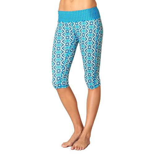 Womens Prana Maison Knicker Capri Pants - Blue Guava XL
