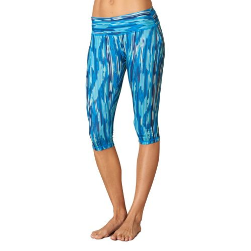 Womens Prana Maison Knicker Capri Pants - Blue Rainblur M