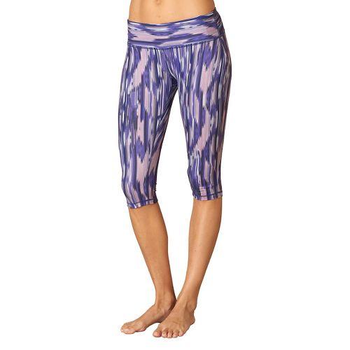 Womens Prana Maison Knicker Capri Pants - Violet Rainblur L