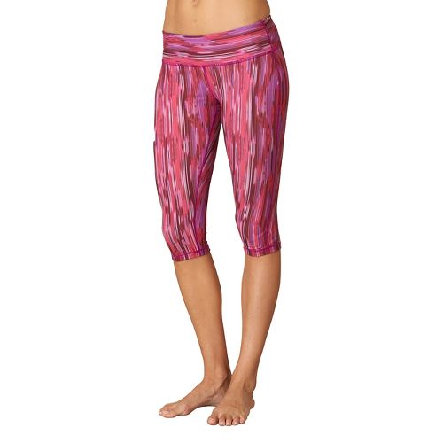 Womens Prana Maison Knicker Capri Pants - Azalea Rainblur XL