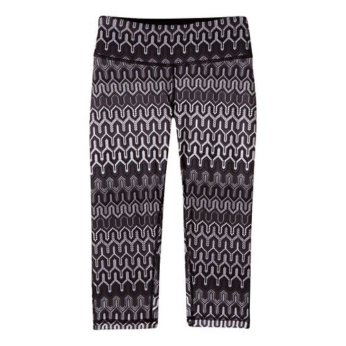 Womens Prana Maison Knicker Capri Tights - Black/Print XL