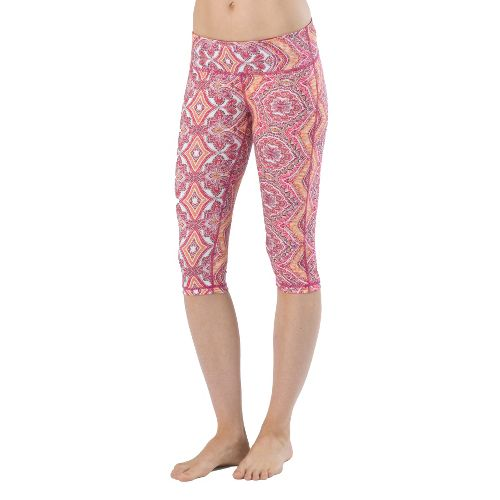 Womens Prana Maison Knicker Capri Tights - Boysenberry L