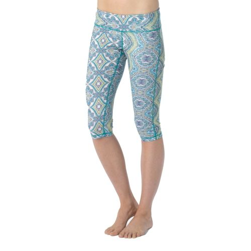 Womens Prana Maison Knicker Capri Tights - Sea Mist L