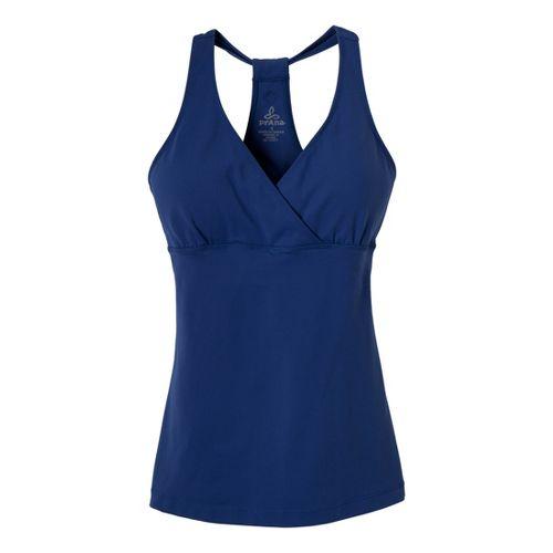 Womens Prana Hope Sport Top Bras - Blue Twilight M
