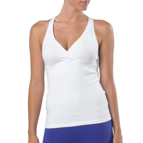 Womens Prana Hope Sport Top Bras - White XS