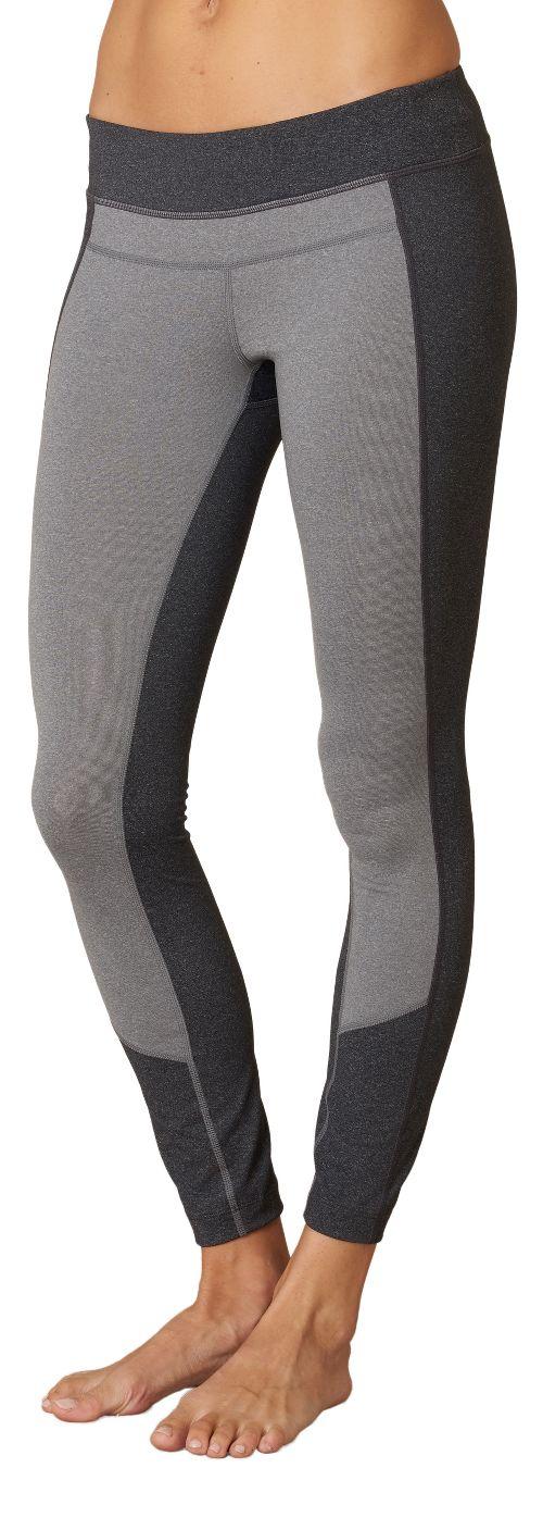 Womens Prana Gabi Tights & Leggings Pants - Charcoal Heather M