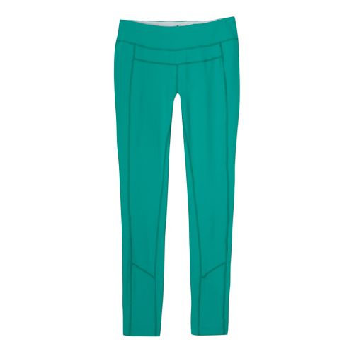 Womens Prana Gabi Legging Fitted Tights - Cool Green M
