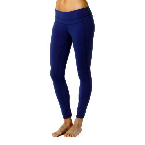 Womens Prana Gabi Legging Fitted Tights - Blue Twilight XS