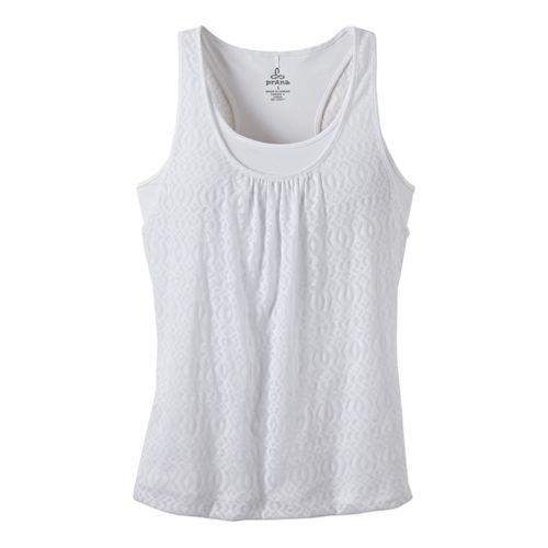 Womens Prana Mika Top Tanks Technical Tops - White M
