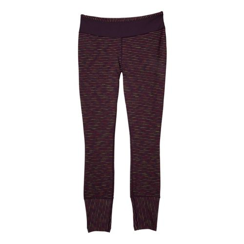 Womens Prana Sapphire Legging Fitted Tights - Dark Plum XL