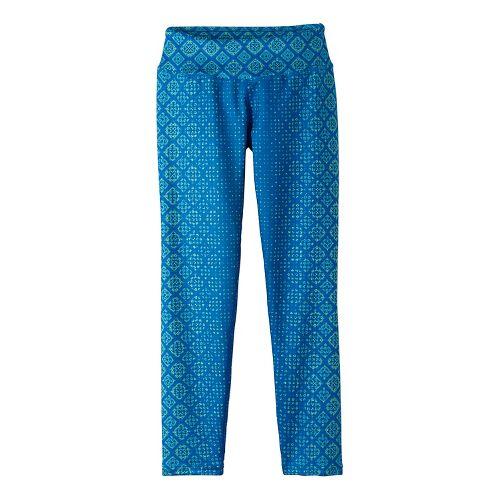 Womens Prana Roxanne Printed Tights & Leggings Pants - Grey/Grey S