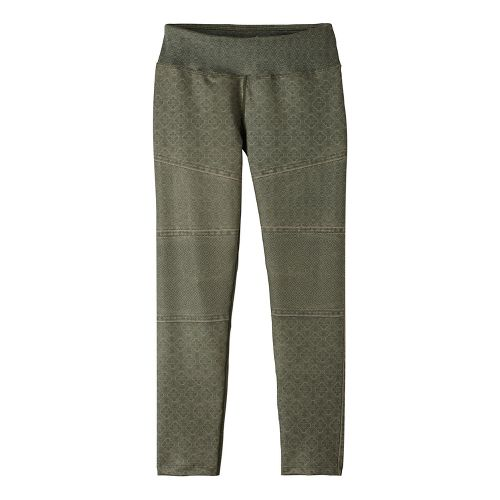 Womens Prana Roxanne Printed Tights & Leggings Pants - Green L