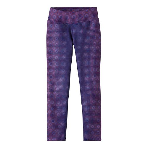 Womens Prana Roxanne Printed Tights & Leggings Pants - Purple L