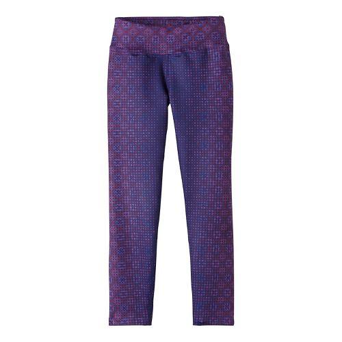 Womens Prana Roxanne Printed Tights & Leggings Pants - Purple S