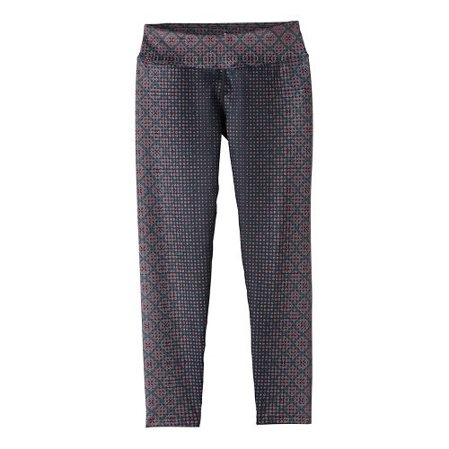 Womens Prana Roxanne Printed Tights & Leggings Pants - Orange XS