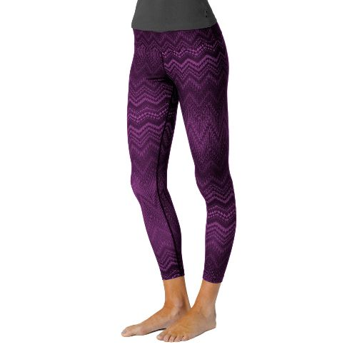 Womens Prana Roxanne Printed Legging Fitted Tights - Grape S