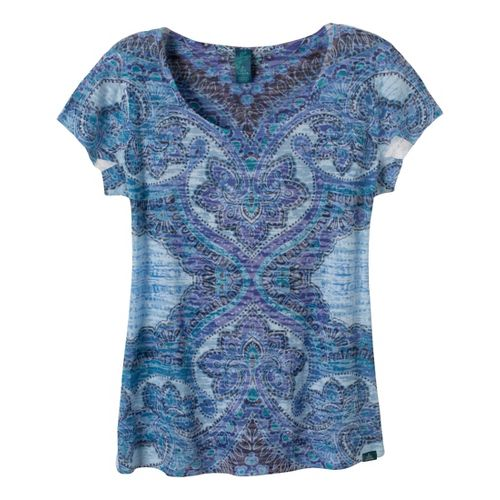Womens Prana Reflect Short Sleeve Technical Tops - Dragonfly XS