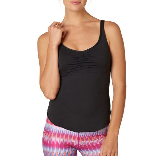Womens Prana Dream Catcher Sleeveless & Tank Technical Tops - Black M
