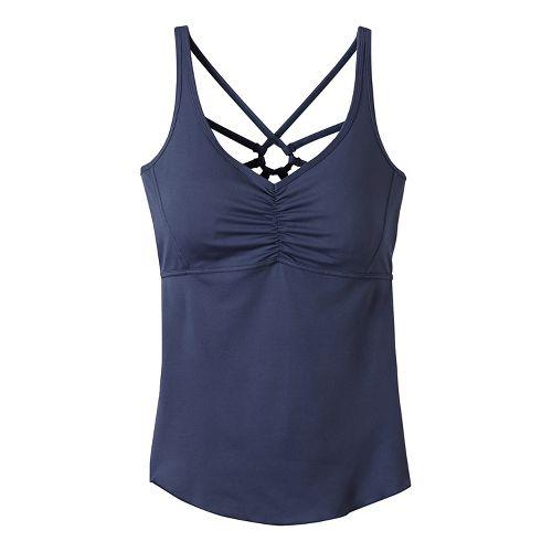 Womens Prana Dream Catcher Sleeveless & Tank Technical Tops - Grey XL
