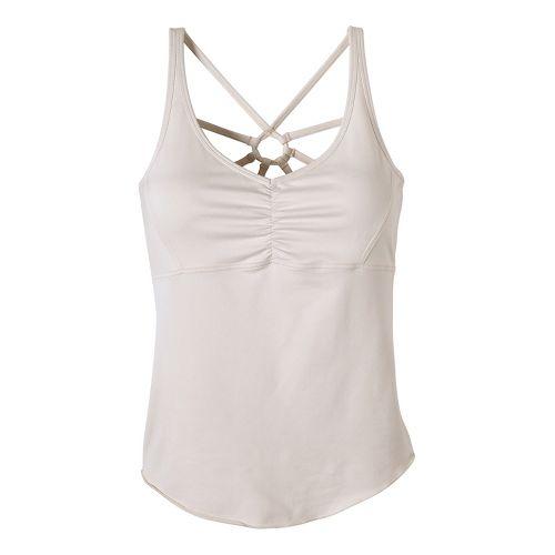 Womens Prana Dream Catcher Sleeveless & Tank Technical Tops - White XL