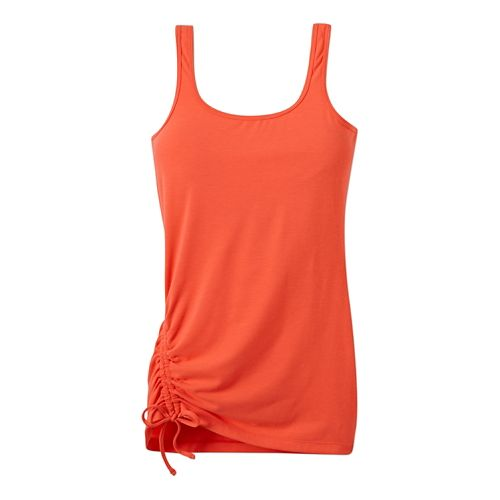 Womens Prana Ariel Tank Sport Top Bras - Neon Orange XS