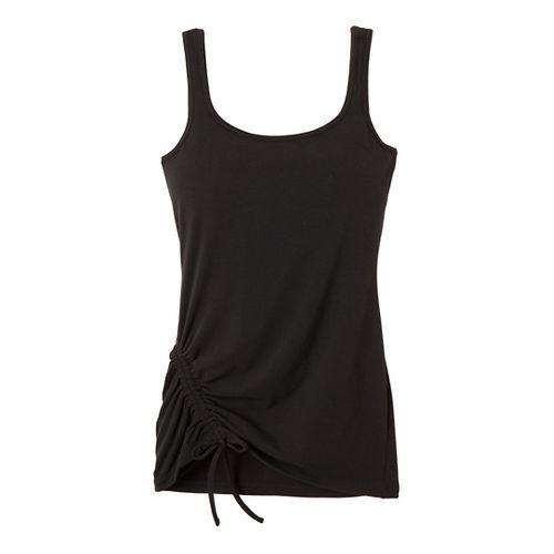 Womens Prana Ariel Tank Sport Top Bras - Black XS
