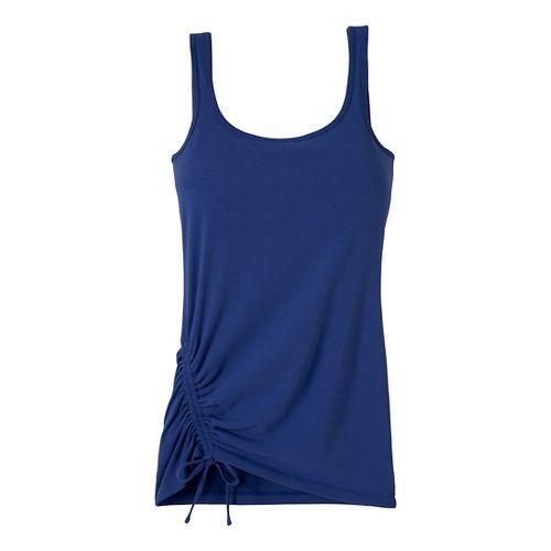Womens Prana Ariel Tank Sport Top Bras - Blue Twilight L