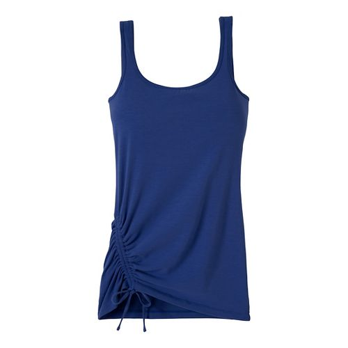 Womens Prana Ariel Tank Sport Top Bras - Blue Twilight XS