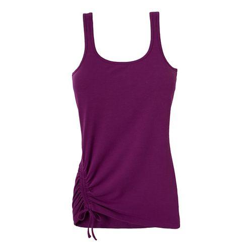Womens Prana Ariel Tank Sport Top Bras - Red Violet XS