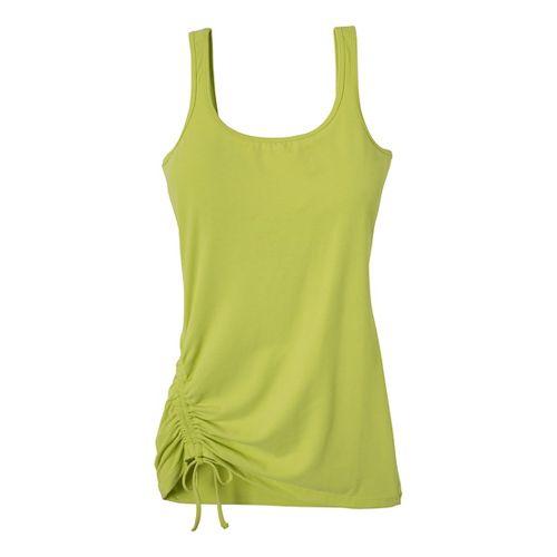 Womens Prana Ariel Tank Sport Top Bras - Wild Lime L