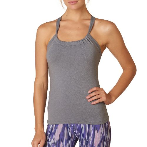 Womens Prana Quinn Chakara Sport Tops Bras - Heather Grey L