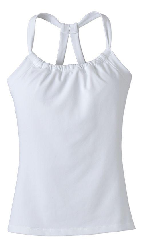 Womens Prana Quinn Chakara Sport Tops Bras - White S