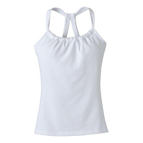 Womens Prana Quinn Chakara Sport Tops Bras - White L