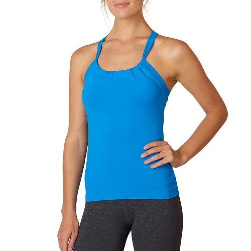 Womens Prana Quinn Chakara Sport Tops Bras - Electro Blue L