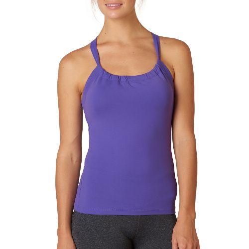 Womens Prana Quinn Chakara Sport Tops Bras - Ultra Violet S