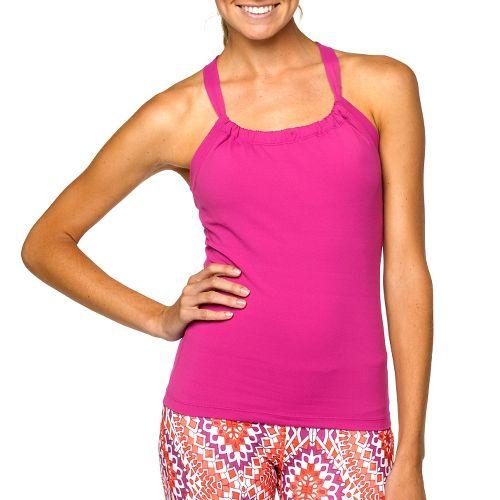 Womens Prana Quinn Chakara Sport Top Bras - Roseberry XL