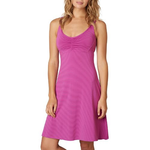 Womens Prana Rebecca Dress Dresses - Orchid Stripe XL