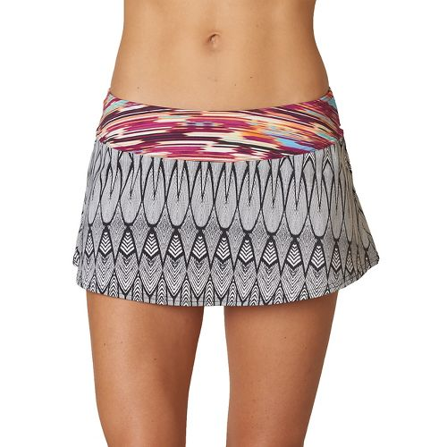 Womens Prana Sakti Swim Skirt Swimming - Black Feather XS