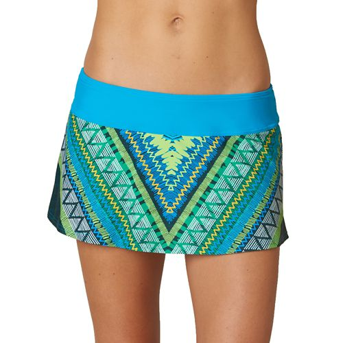 Womens Prana Sakti Swim Skirt Swimming - Vivid Blue Panama XS