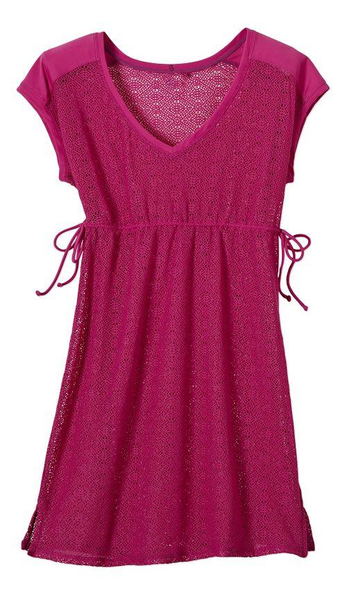 Womens Prana Elliot Dress Skirt Fitness Skirts - Fuschia M