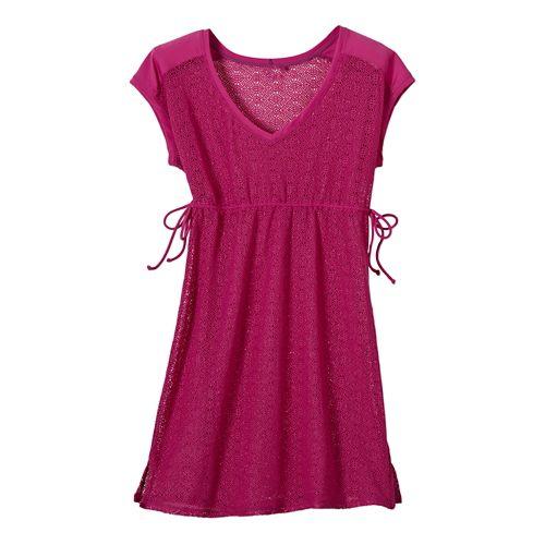 Womens Prana Elliot Dress Skirt Fitness Skirts - Fuschia XS