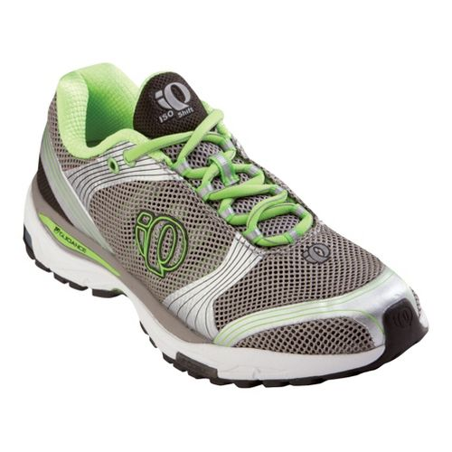 Womens Pearl Izumi isoShift Running Shoe - Grey/Lime 7.5
