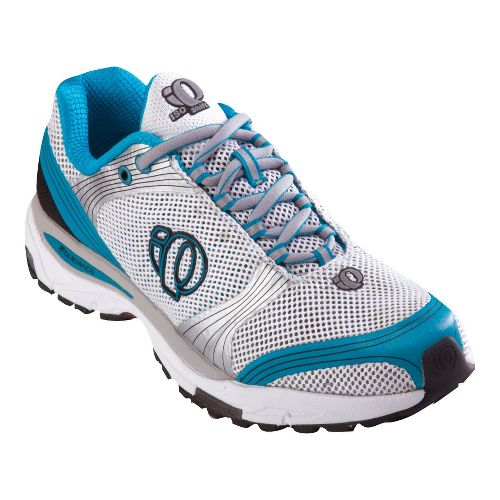 Womens Pearl Izumi isoShift Running Shoe - White/Teal 7.5