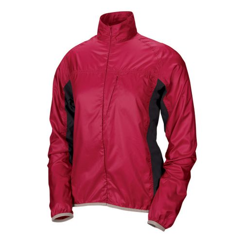 Womens Pearl Izumi Fly Running Jackets - Real Passion/Black M