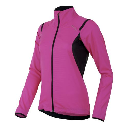 Womens Pearl Izumi Fly Running Jackets - Raspberry Rose/Black S