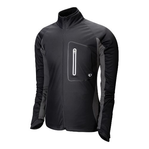 Mens Pearl Izumi Infinity Softshell Running Jackets - Black/Shadow Grey L