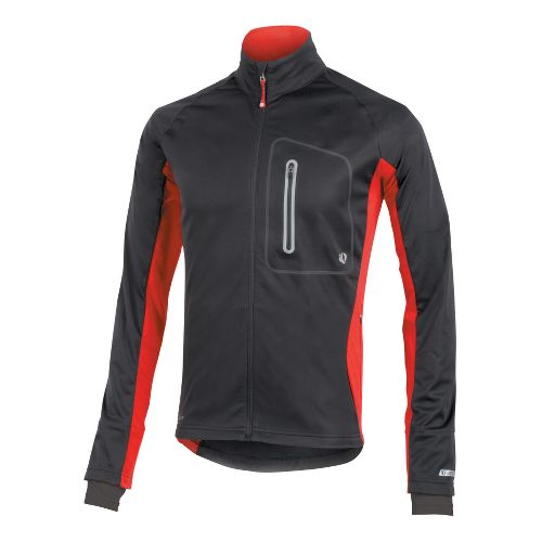 Mens Pearl Izumi Infinity Softshell Running Jackets - Black/True Red S