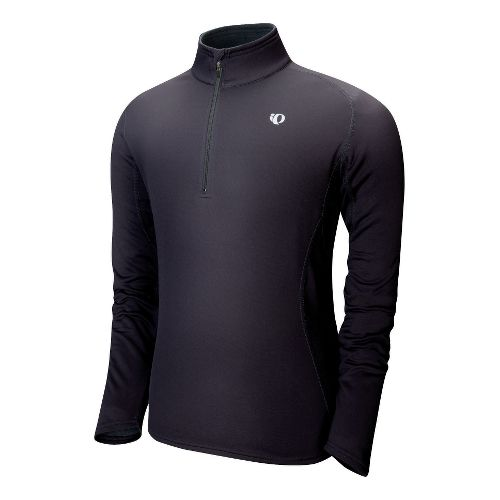 Mens Pearl Izumi Therma Phase Top Long Sleeve No Zip Technical Tops - Black S ...