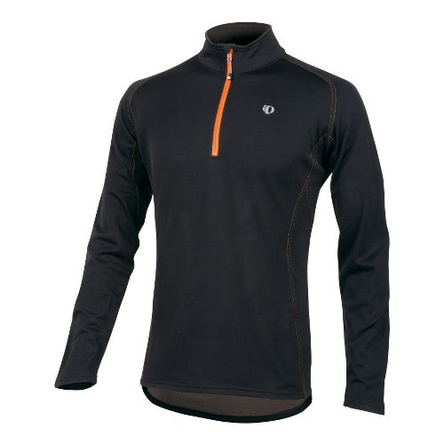 Mens Pearl Izumi Therma Phase Top Long Sleeve No Zip Technical Tops - Black/OJ L ...